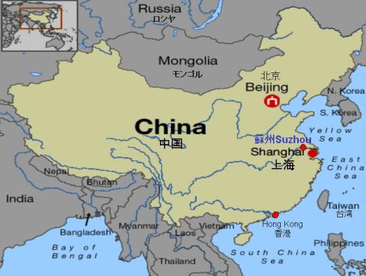 Map suzhou china